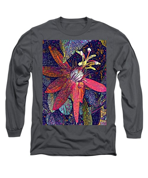 Bejeweled Passion Long Sleeve T-Shirt by Geri Glavis