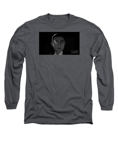 Bela Lugosi  Dracula 1931 And His Piercing Eyes Long Sleeve T-Shirt