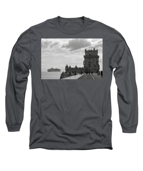 Long Sleeve T-Shirt featuring the photograph Belem And The Boat by Lorraine Devon Wilke