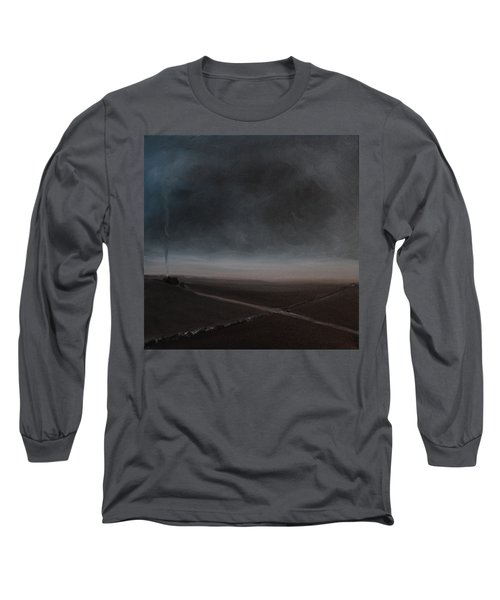 Long Sleeve T-Shirt featuring the painting Belgian Wintertime by Tone Aanderaa