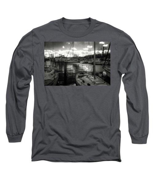 Bell Haven Docks Long Sleeve T-Shirt by Paul Seymour