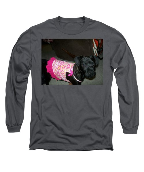 Long Sleeve T-Shirt featuring the photograph Bella In Swimsuit by Jewel Hengen