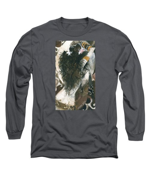 Belly Dancer And The Mirror Long Sleeve T-Shirt