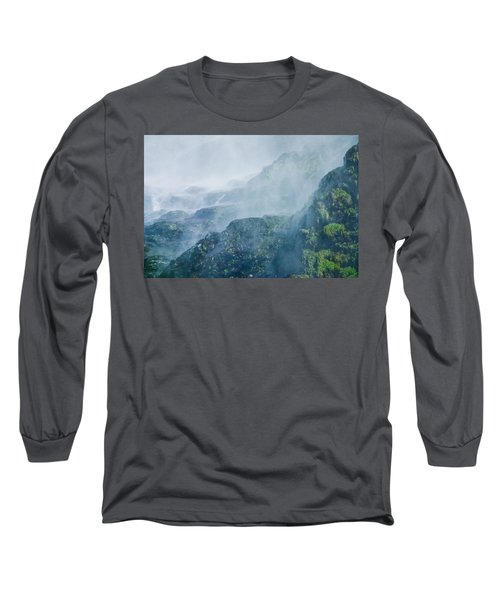 Below Wallace Falls Long Sleeve T-Shirt