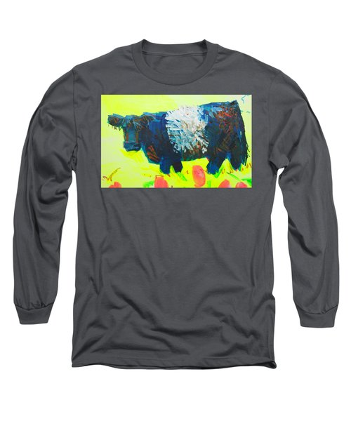 Belted Galloway Cow Looking At You Long Sleeve T-Shirt