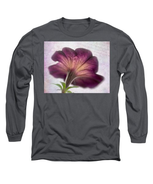 Long Sleeve T-Shirt featuring the photograph Beneath A Dreamy Petunia by David and Carol Kelly