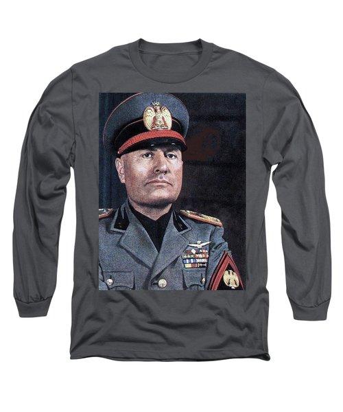 Benito Mussolini Color Portrait Circa 1935 Long Sleeve T-Shirt