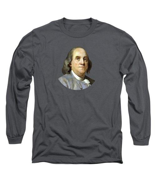 Benjamin Franklin Painting Long Sleeve T-Shirt