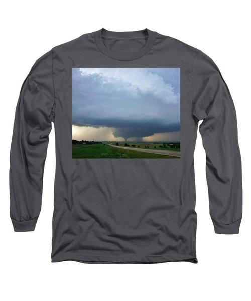 Bennington Tornado - Inception Long Sleeve T-Shirt by Ed Sweeney