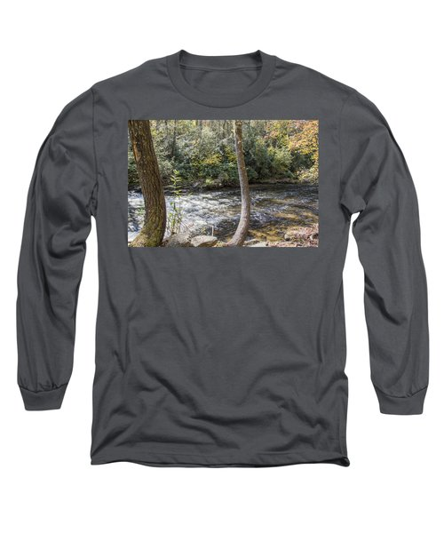 Bent Tree River Long Sleeve T-Shirt by Ricky Dean