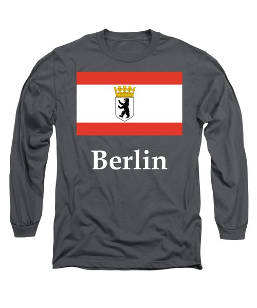 Berlin, Germany Flag And Name Long Sleeve T-Shirt by Frederick Holiday