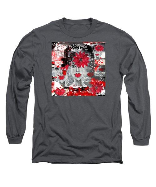 Besame Mucho Long Sleeve T-Shirt by Sladjana Lazarevic