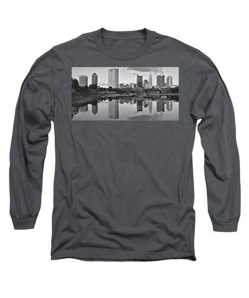 Long Sleeve T-Shirt featuring the photograph Best Columbus Black And White by Frozen in Time Fine Art Photography