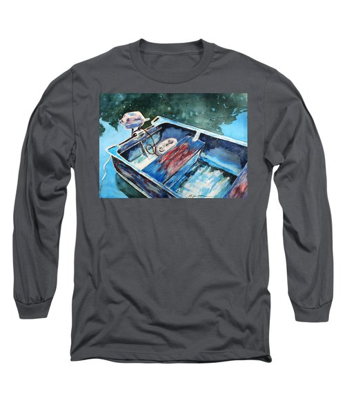 Long Sleeve T-Shirt featuring the painting Best Fishing Buddy by Marilyn Jacobson