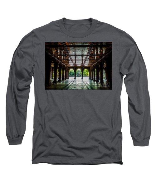 Bethesda Terrace Arcade 2 Long Sleeve T-Shirt by James Aiken