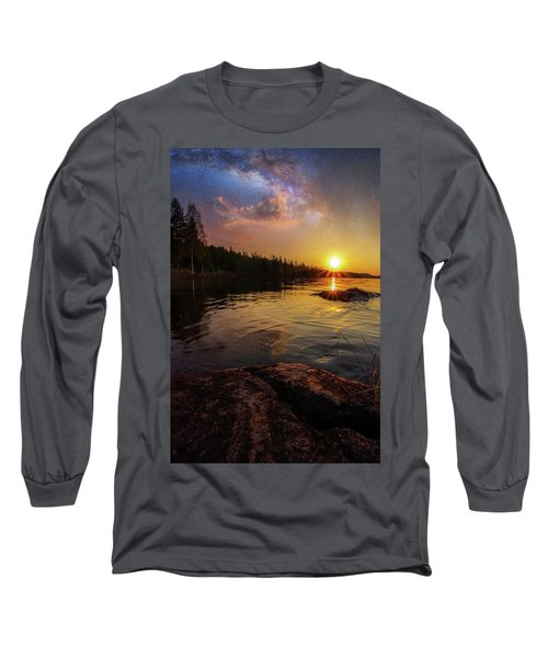 Between Heaven And Earth Long Sleeve T-Shirt by Rose-Marie Karlsen
