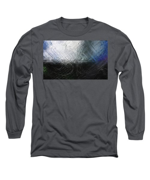 Long Sleeve T-Shirt featuring the digital art Between Us, This Melancholy Sea by Wendy J St Christopher