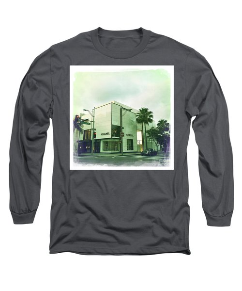 Beverly Hills Rodeo Drive 13 Long Sleeve T-Shirt by Nina Prommer