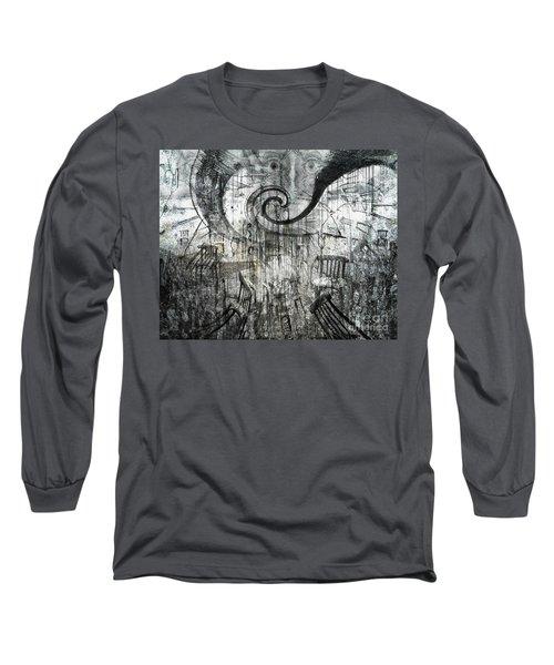 Long Sleeve T-Shirt featuring the digital art Beware Of Darkness by Rhonda Strickland