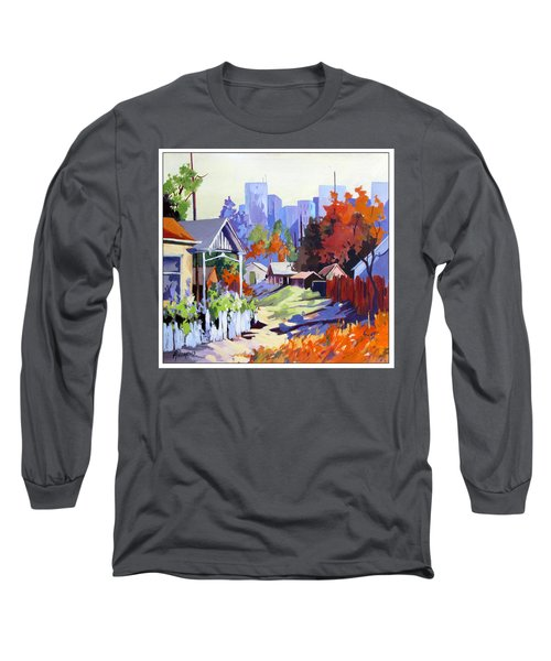 Long Sleeve T-Shirt featuring the painting Beyond The City Limits by Rae Andrews