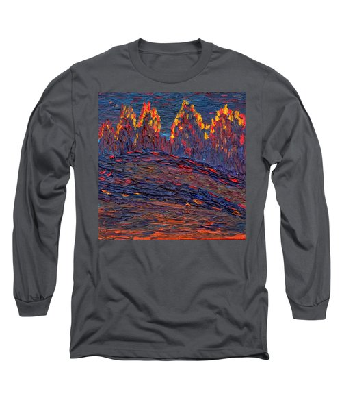 Long Sleeve T-Shirt featuring the painting Beyond The Darkness by Vadim Levin