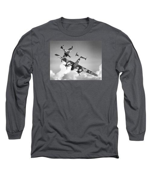Bf-110c Zerstorer Long Sleeve T-Shirt by Douglas Castleman
