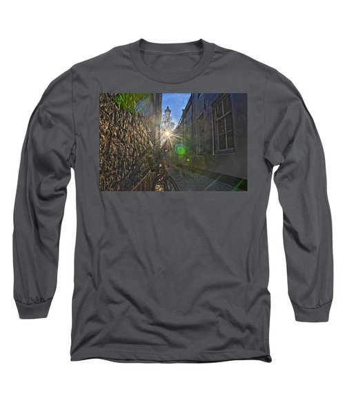 Bicycle Alley Long Sleeve T-Shirt by Frans Blok
