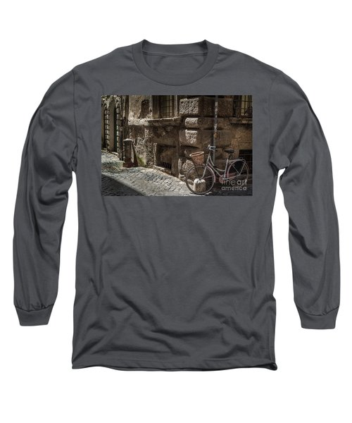 Bicycle In Rome, Italy Long Sleeve T-Shirt