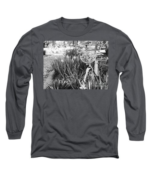 Bicycle In The Garden Long Sleeve T-Shirt
