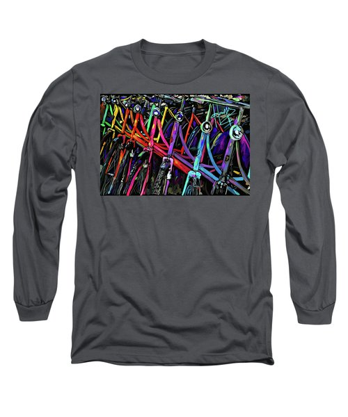 Bicycles In Amsterdam Long Sleeve T-Shirt by DC Langer