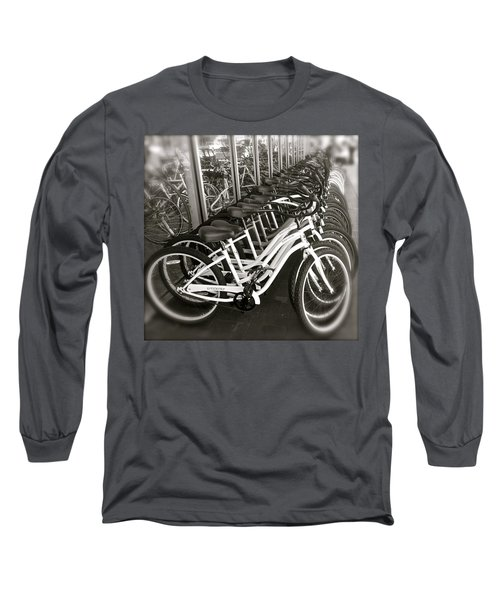 Bicycles In Belmont Shore Long Sleeve T-Shirt