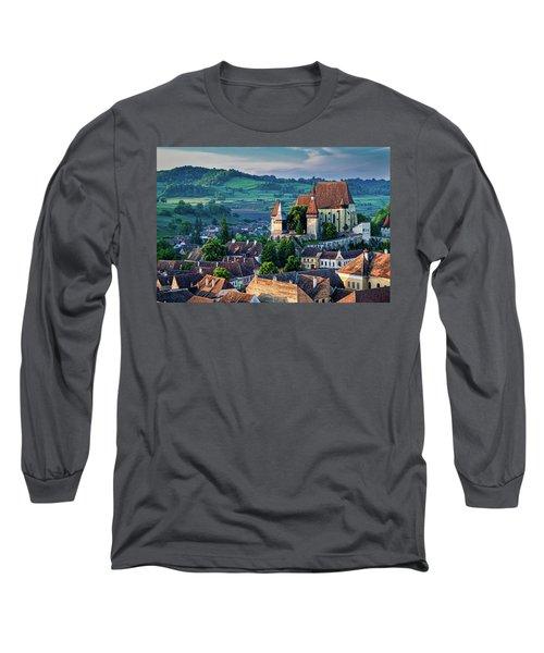 Biertan Church Dawn - Romania Long Sleeve T-Shirt