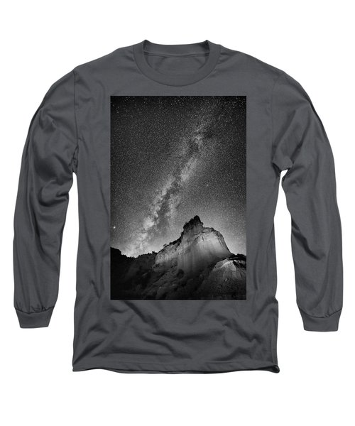 Long Sleeve T-Shirt featuring the photograph Big And Bright In Black And White by Stephen Stookey