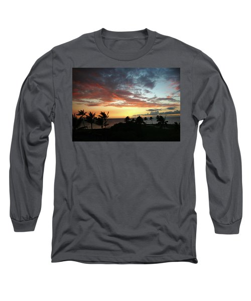 Long Sleeve T-Shirt featuring the photograph Big Island Sunset #2 by Anthony Jones