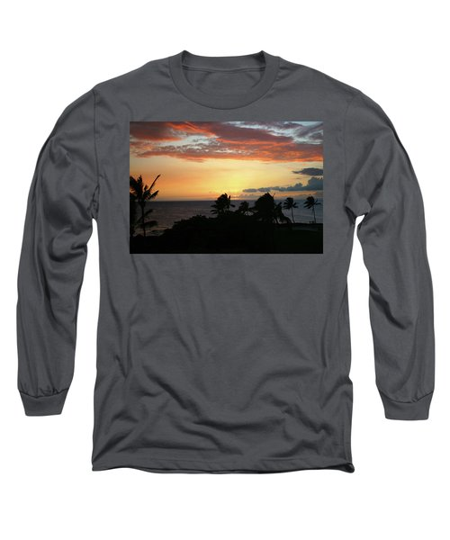 Long Sleeve T-Shirt featuring the photograph Big Island Sunset by Anthony Jones