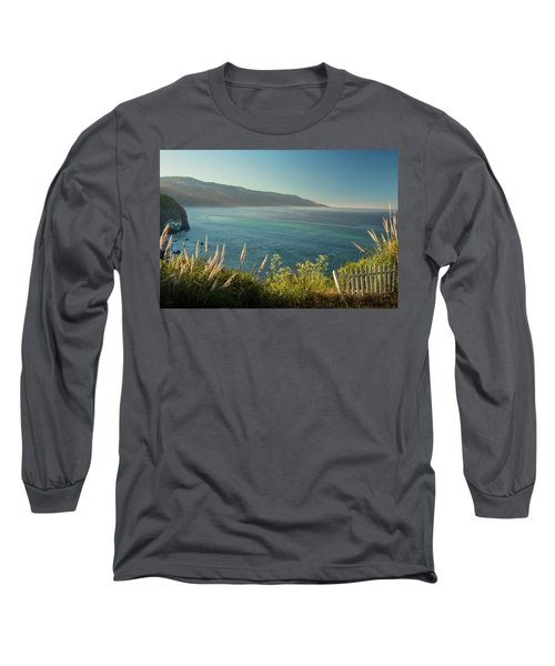 Long Sleeve T-Shirt featuring the photograph Big Sur At Lucia, Ca by Dana Sohr