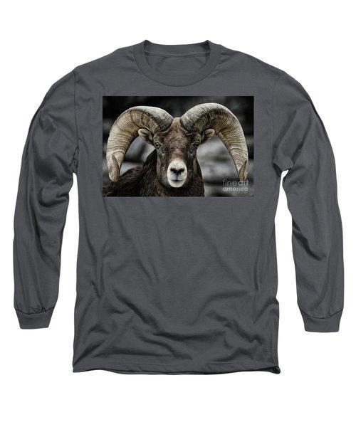 Bighorn Ram Long Sleeve T-Shirt by Brad Allen Fine Art