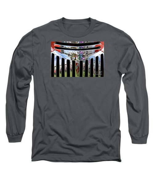 Chevrolet Grille 02 Long Sleeve T-Shirt by Rick Piper Photography