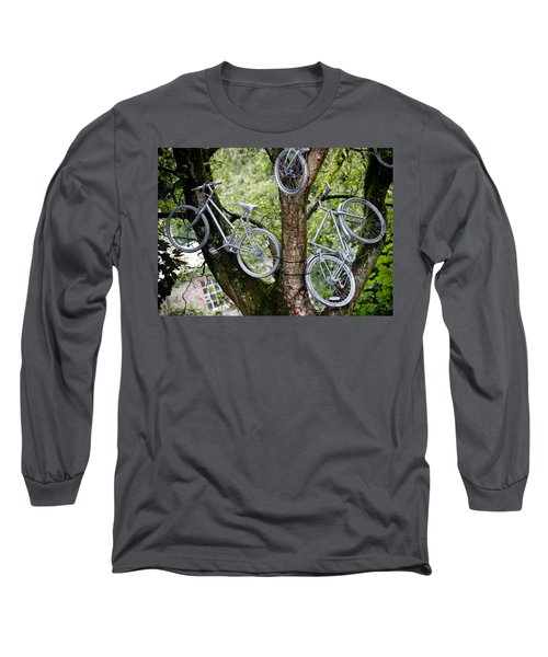 Bikes In A Tree Long Sleeve T-Shirt