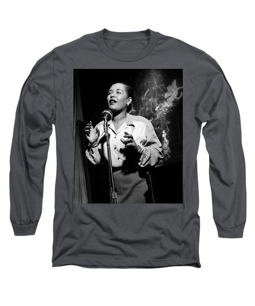 Billie Holiday  New York City Circa 1948 Long Sleeve T-Shirt