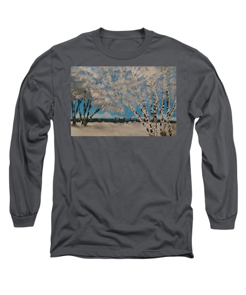 Birch Snow Long Sleeve T-Shirt