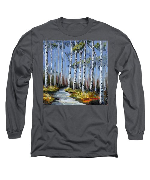 Birch Tree Path Long Sleeve T-Shirt