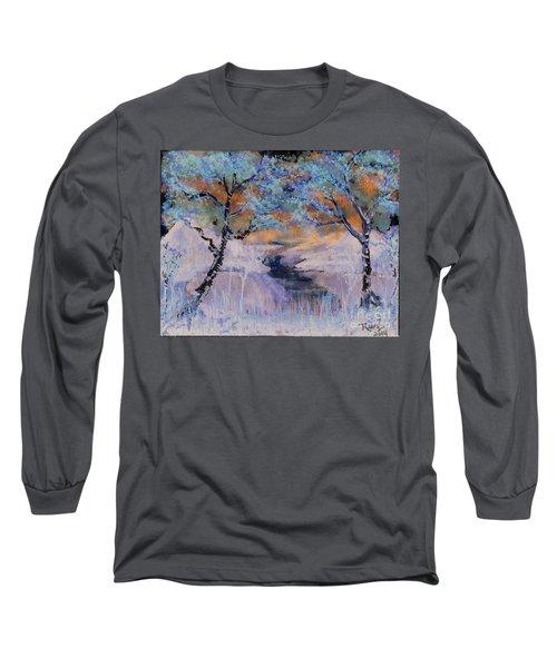 Birch Trees On The Ridge 2 Long Sleeve T-Shirt