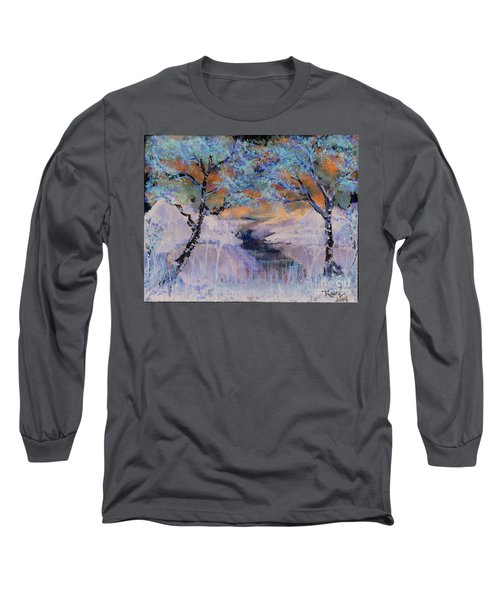 Birch Trees On The Ridge 2 Long Sleeve T-Shirt
