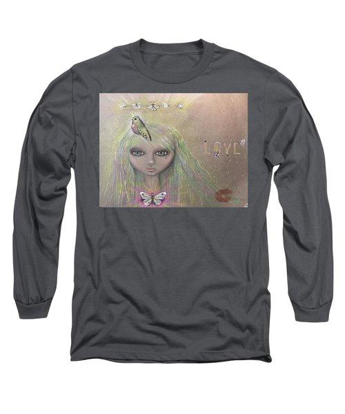 Bird From Spirit World  Long Sleeve T-Shirt