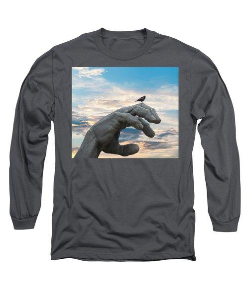 Bird On Hand Long Sleeve T-Shirt