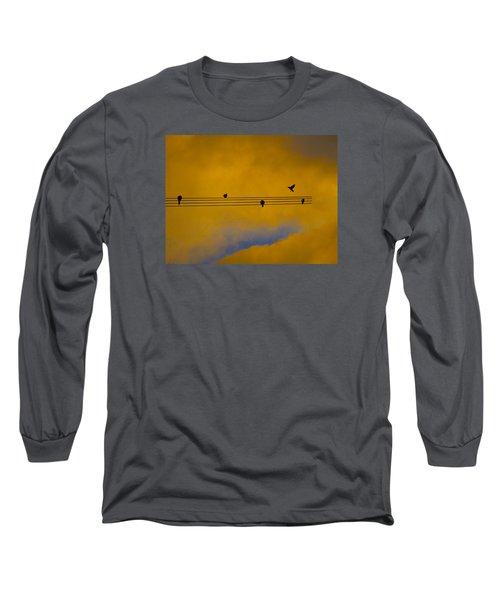 Bird Song Long Sleeve T-Shirt by Mark Blauhoefer