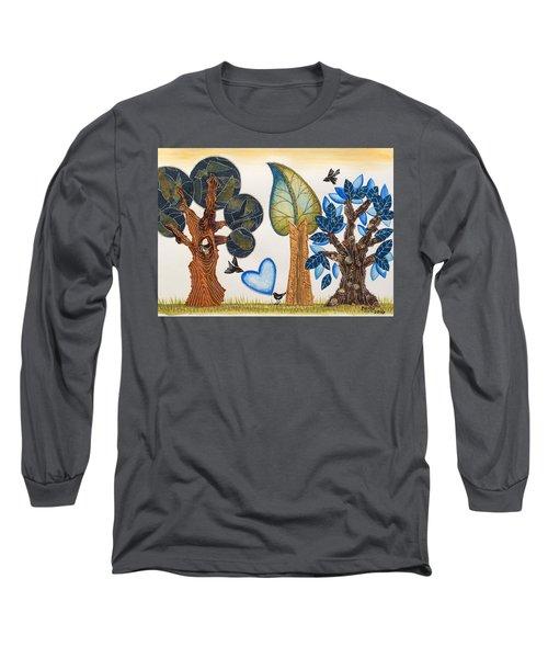 Birds In Love Long Sleeve T-Shirt