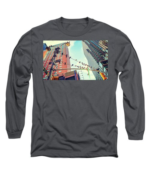 Birds In New York City Long Sleeve T-Shirt