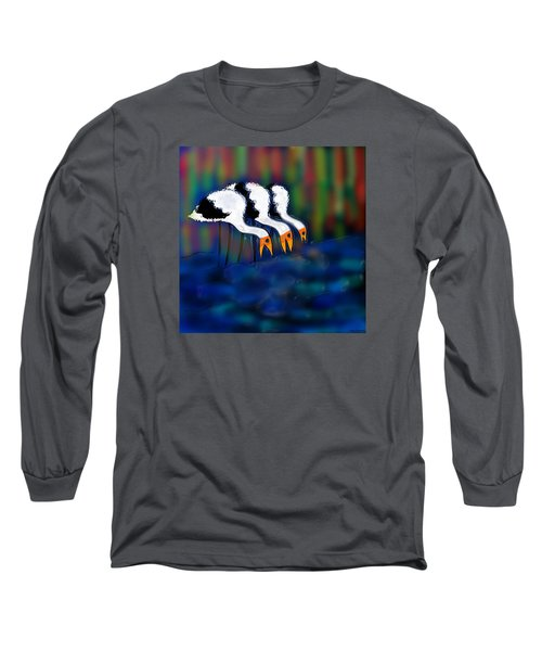 Long Sleeve T-Shirt featuring the digital art Birds Of Same Feather by Latha Gokuldas Panicker